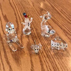 Lot of 5-Crystal mini Figurines